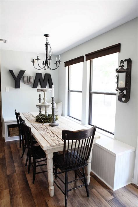 Booth Style Dining Room Sets by Joanna Gaines House Tour On Design Mom She Was