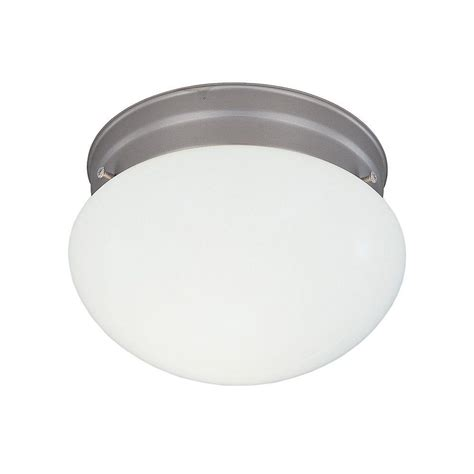 hton bay 2 light brushed nickel flush mount 05246 the