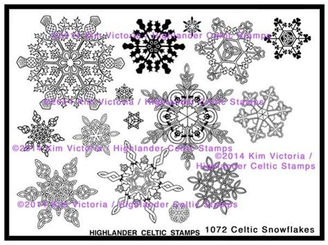 snowflake rubber st 105 best images about highlander celtic sts on