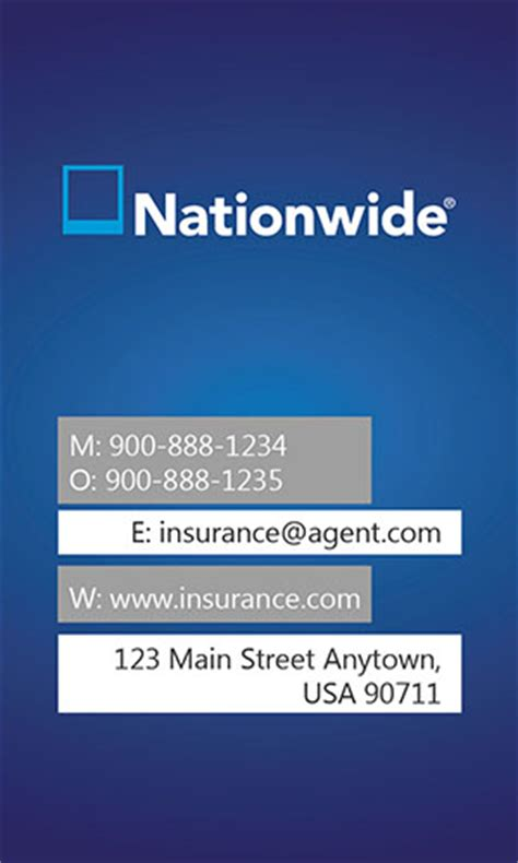 Insurance Agent Business Card Allstate Agents Card Designs Nationwide Insurance Card Template