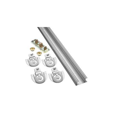 Closet Door Hardware Track Shop Stanley National Hardware 48 In Bi Pass Door Sliding Closet Door Track Kit At Lowes