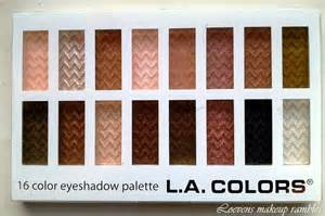 la colors makeup l a colors 16 color eyeshadow palette sweet loevens