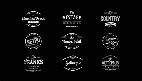 vintage logo design photoshop tutorial 15 free vintage logo template collections