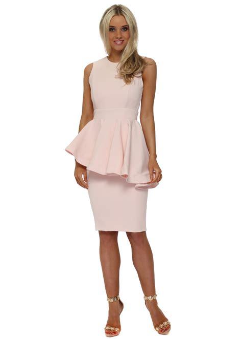 Fashions A30784 Midi Dress Pink rhoades juillet dress pink peplum midi