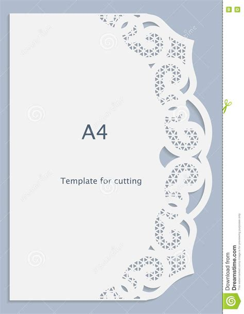 Paper Lace Templates Card by A4 Paper Lace Greeting Card White Pattern Cut Out