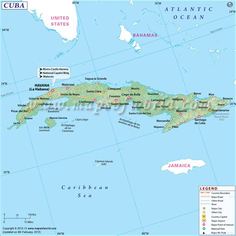 map of usa and cuba map of cuba cuba map