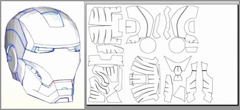iron helmet template 5 printable ironman mask template aruar templatesz234
