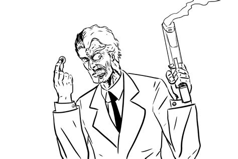 batman two face coloring pages