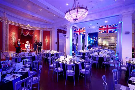 london themed events party space and ballroom events madame tussauds