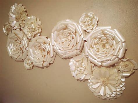 home decor flower paper flower wall decor wedding decor home decor paper