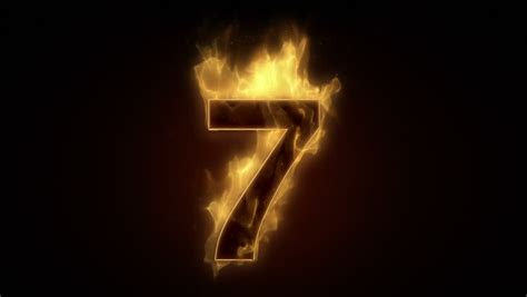 Fiery Number 2 Stock Photos Burning Numbers 7 Flames On Black Background Stock Footage 3279800