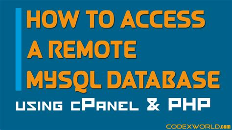 php tutorial how to connect to a database how to connect to the remote mysql database using php