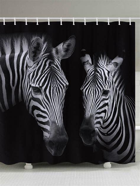 zebra pattern curtains zebra pattern waterproof bathroom shower curtain in black