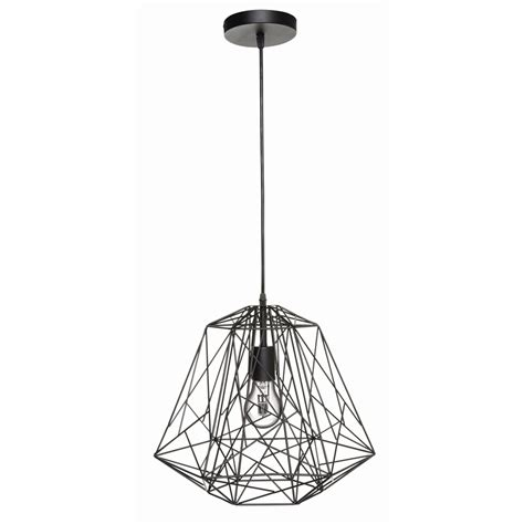 brilliant 38 5cm 60w black matrix pendant light bunnings