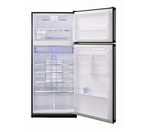Freezer Sharp 8 Rak buy sharp sjgc680vbk fridge freezer black free