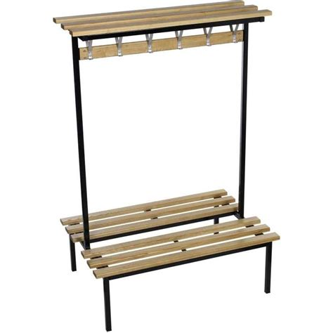 cloakroom bench evolve duo cloakroom bench with wood top shelf ese direct