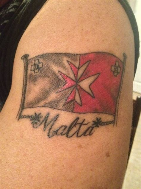 maltese flag tattoo maltese cross beautiful pinterest