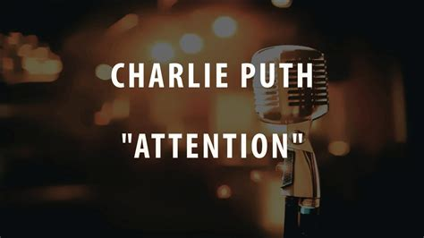 charlie puth i just want to touch you lyrics charlie puth attention instrumental karaoke youtube