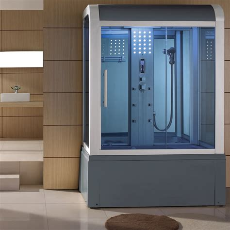eagle bath 59 inch steam shower with whirlpool bathtub