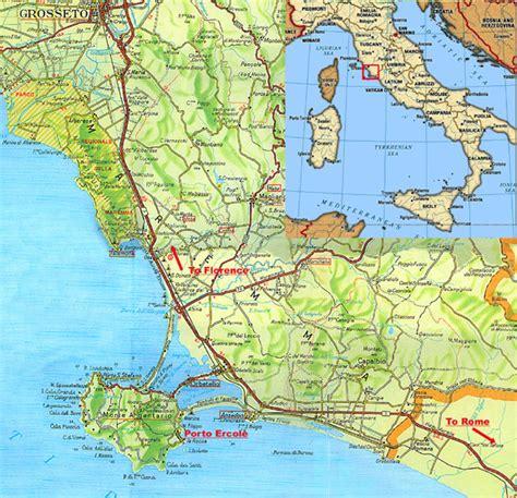 porto ercole italy porto ercole map