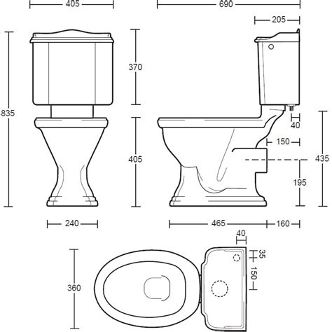 size of toilet standard toilet dimensions imperial crowdbuild for