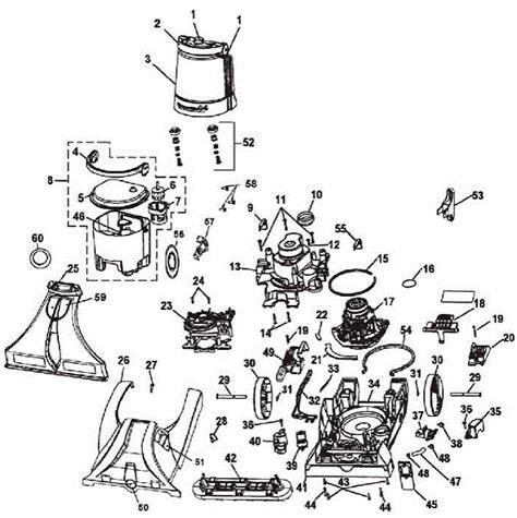 hoover steamvac parts diagram hoover f7425 steamvac dual v carpet cleaner parts