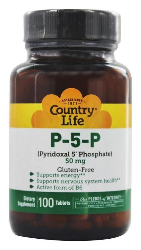 buy country life p 5 p pyridoxal 5 phosphate p5p 50