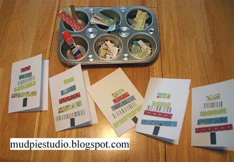 Kids Gift Card - mud pie studio christmas cards handmade by kids