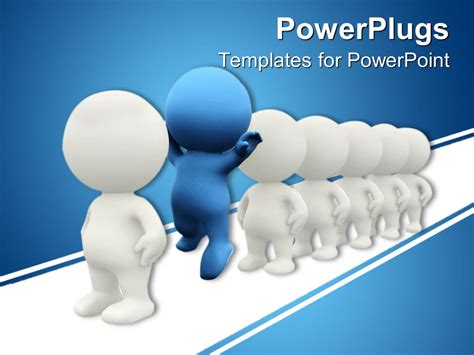 ppt templates free download crystalgraphics powerpoint template 3d figures in line white figures and