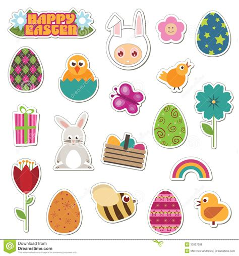 printable easter stickers easter stickers royalty free stock photos image 13527288