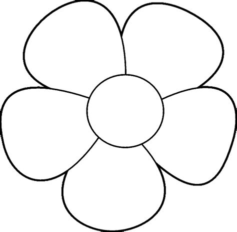 easy coloring pages flowers simple flower design coloring page wecoloringpage
