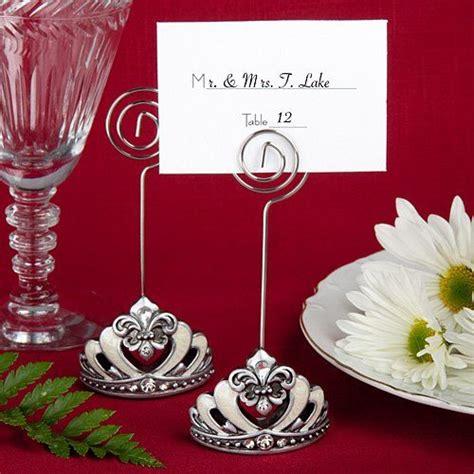 place card holders ideas for your wedding arabia weddings crown design place card holders with fleur de lis accents