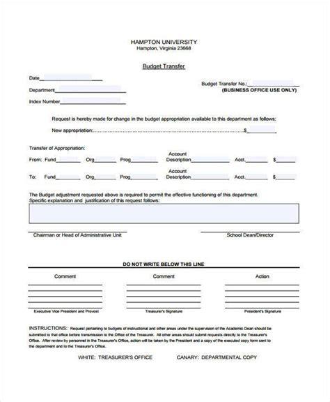 Budget Form Templates Budget Request Template