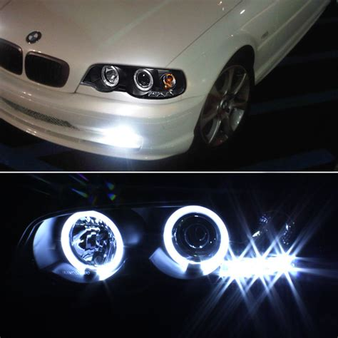 bmw headlights 3 series 00 03 bmw e46 3 series 01 06 m3 angel eye halo led