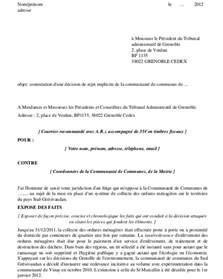 Exemple De Lettre Pour Courrier Administratif Modele Lettre Tribunal Administratif