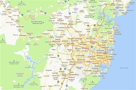 sydney map map of sydney nsw pictures to pin on pinsdaddy