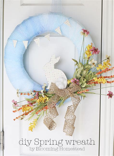 diy spring wreath diy spring wreath blooming homestead