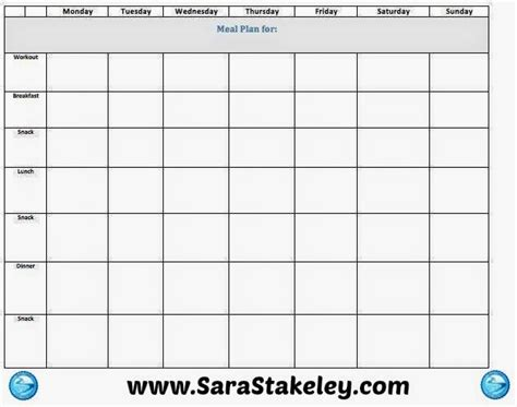 blank meal planner with snacks blank weekly meal plan template edit for free www