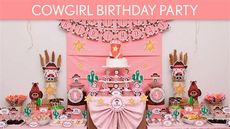 Minnie Mouse Diy Decorations Cowgirl Birthday Party Ideas Cowgirl B12 Youtube