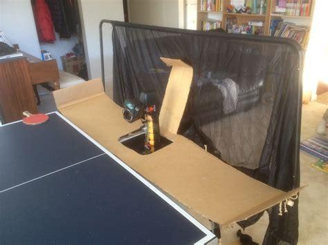 table tennis rebound board my diy recycling catch log v1 alex table tennis