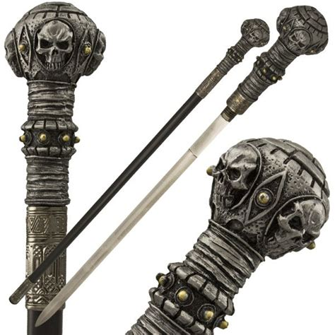 by the sword medievalgothic pirate pinterest gothic 4 skull sword cane products pinterest gothic