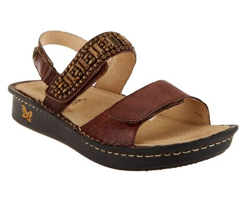 qvc sandals clearance alegria verona leather sandals page 1 qvc