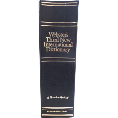 vintage 1993 webster s third new international dictionary