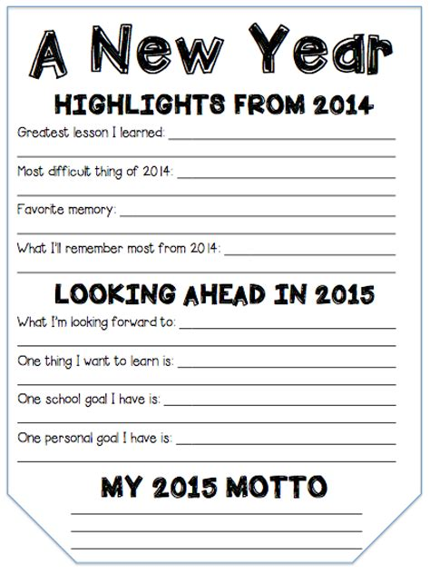 new year grade 2 fifth grade freebies new year goal setting pennant banner
