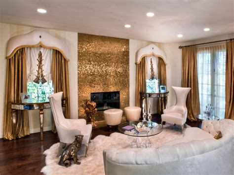 Gold And Living Room by Photo Page Hgtv