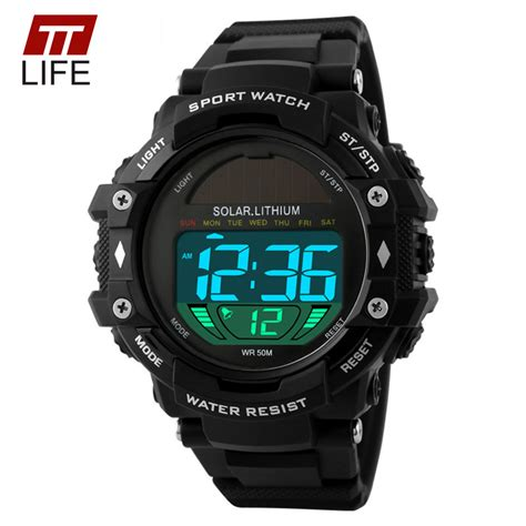 Skmei Solar Power Sport Led Ad1050e Blue Limited ttlife mens sports watches solar power led digital 50m water resistance outdoor