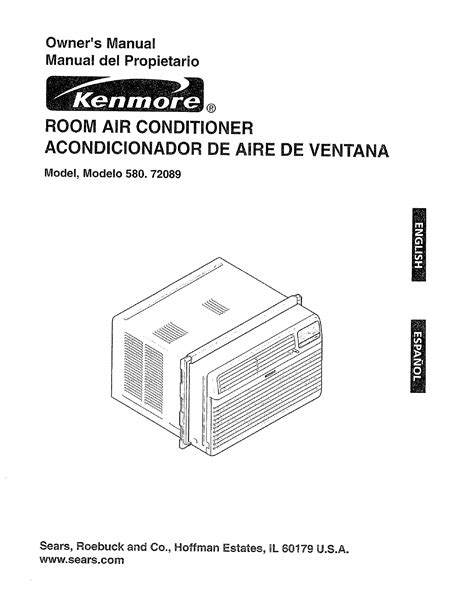 kenmore air conditioner 580 72089 user guide manualsonline
