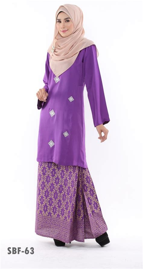 Baju Oren Tudung Purple busana muslimah part 4