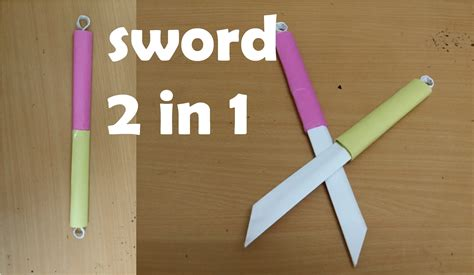 Easy Origami Weapons - origami sword www pixshark