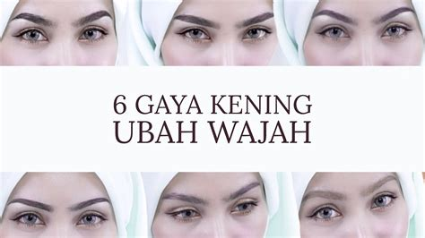 Maskara Kening Sendayu Tinggi 6 jenis bentuk kening ubah wajah